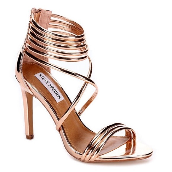c6c771f56a4 🆕Steve Madden BRONZE metallic heels size 10